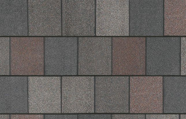 Crowne Slate grey and red shingles