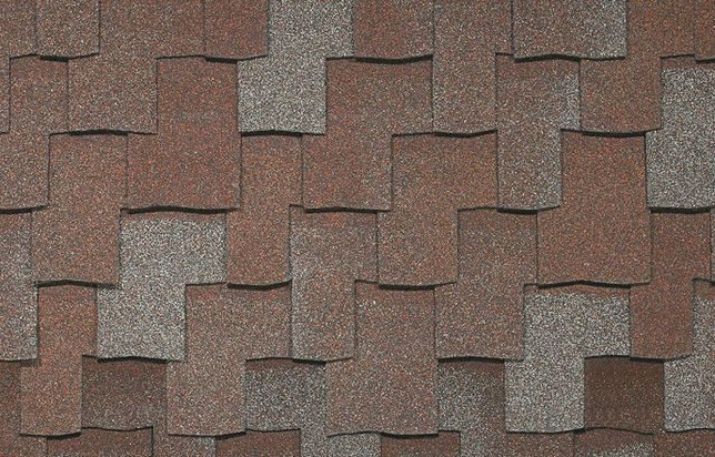 Armourshake red and grey shingles