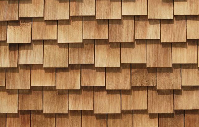 Light brown cedar shingles